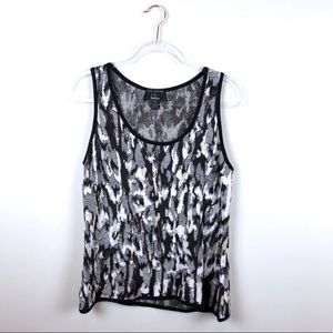 St. John for Neiman Marcus Tank Top Animal Print L